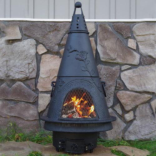 Garden Style Cast Iron Outdoor Fireplace Chiminea Chimenea