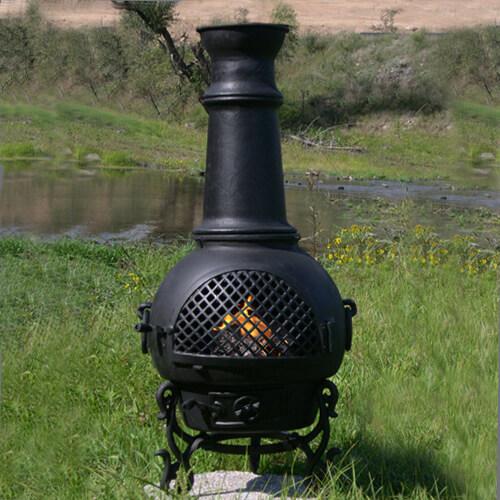 Gatsby Style Chiminea Outdoor Fireplace Cast Aluminum