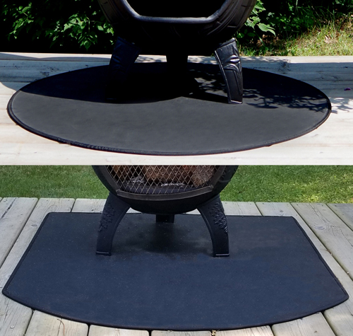 Fire Resistant Chiminea Outdoor Fireplace Deck Pad