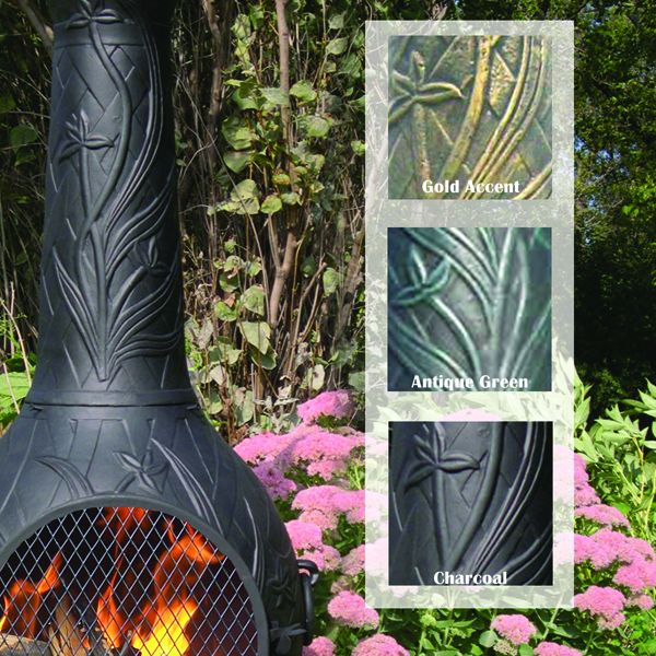 chiminea  orchid style cast aluminum cast iron outdoor fireplace for sale outdoor cast iron fireplace stove