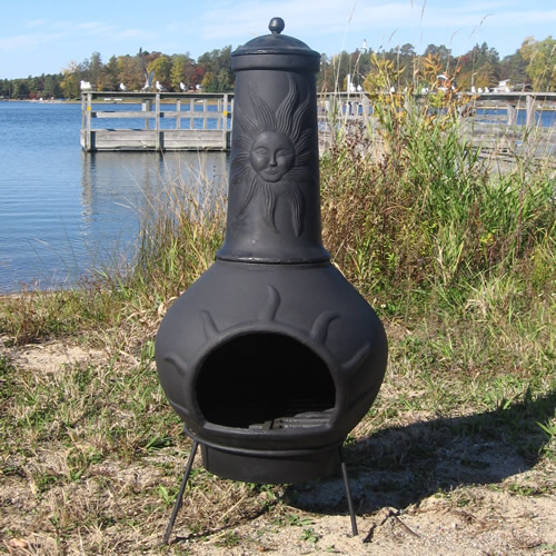 Nice The Blue Rooster Sun Ray Chiminea [ALCH072]