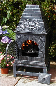 casita grill outdoor fireplace chiminea from the