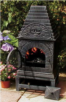 Elegant The Blue Rooster Casita Grill Chiminea In Cast Iron Click To Enlarge