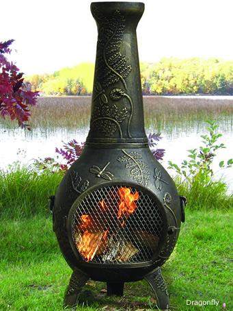 chiminea outdoor fireplace chimenea firepit chimineas