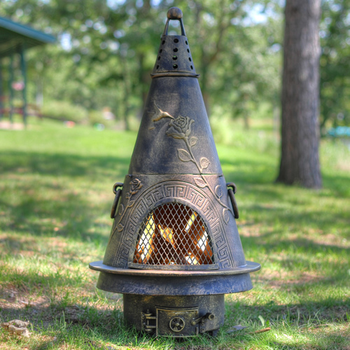 The Blue Rooster Garden Chiminea