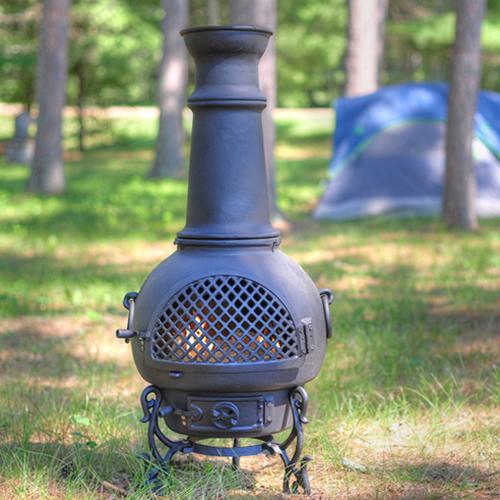 Chiminea, Gatsby Style Cast Aluminum Outdoor Fireplace
