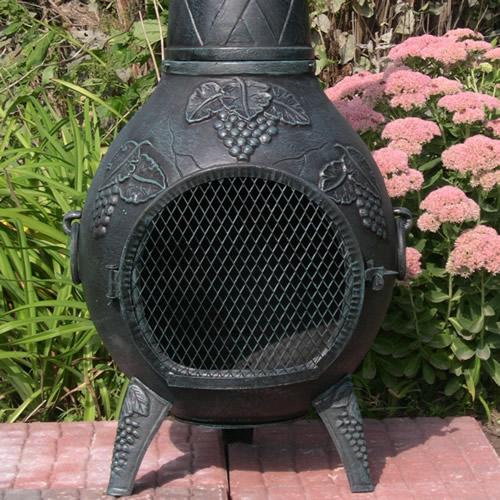 shop oakland living antique bronze cast iron outdoor wood. shop oakland living cast iron outdoor wood burning.  Home Design Ideas - Home Design Ideas Complete