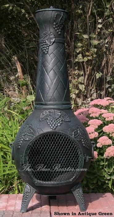 Chiminea Grapestyle Cast Aluminum Outdoor Fireplace Chimenea