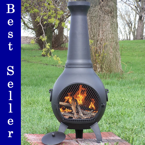 Cast Aluminum Outdoor Fireplace Blue Rooster Exclusive