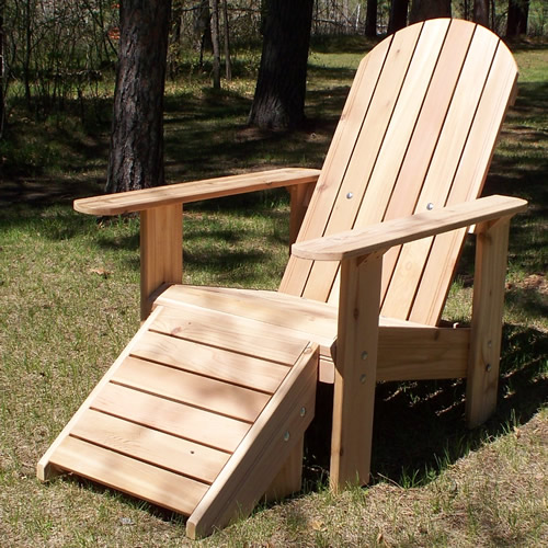 Cedar Deck Chair Round Back