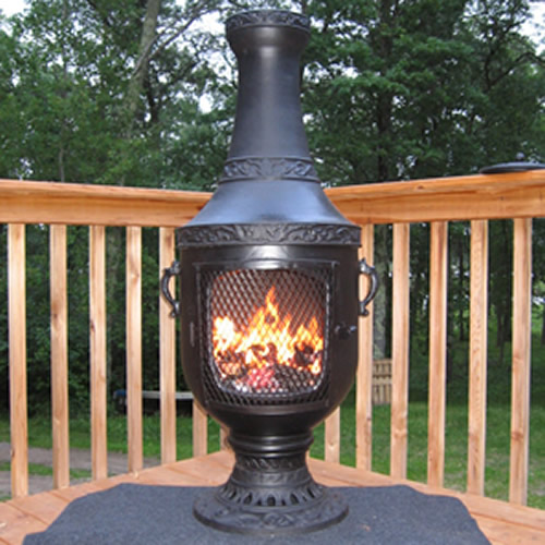 Chiminea Venetian Style outdoor fireplace chimenea with Gas Conversion