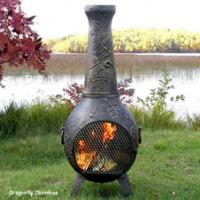 The Blue Rooster Dragonfly Chiminea