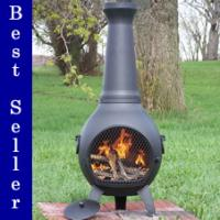 The Blue Rooster Prairie Chiminea
